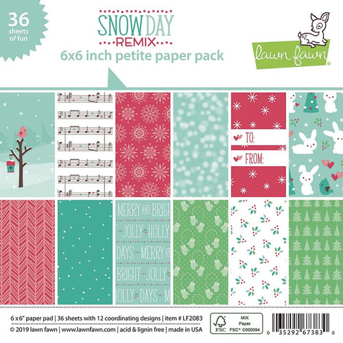 Lawn Fawn Snow Day Remix 6 x 6 Petite Paper Pack - (LF2083)