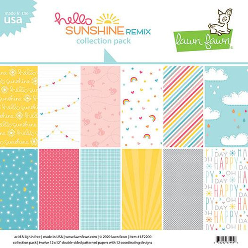 Lawn Fawn Hello Sunshine Remix 12 x 12 Collection Pack - (LF2200)