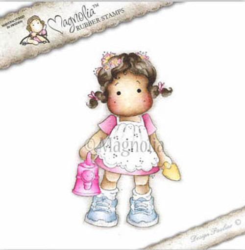 Tilda with Ponytail Magnolia Sweet Rainbow Cling Stamp
