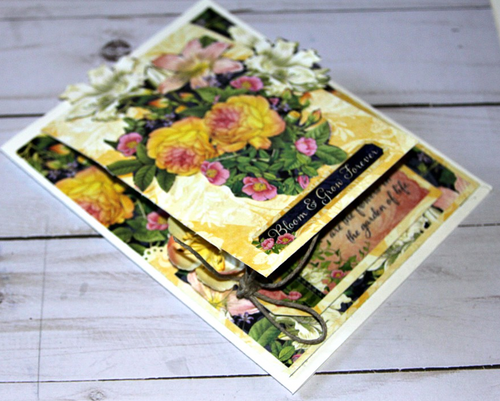 Graphic 45 Friendship Card with Flower Shoppe Collection