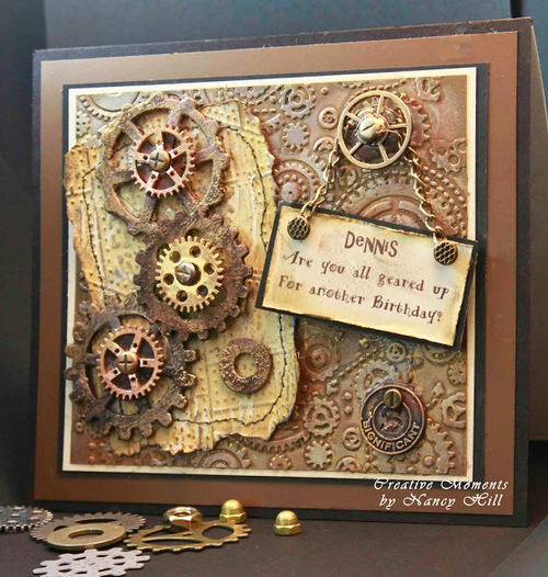Tim Holtz Mechanical Male Birthday Card
