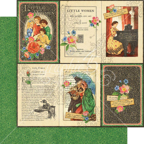 Graphic 45 Little Women 12 x 12 Patterns and Solids Paper Pad 4501660