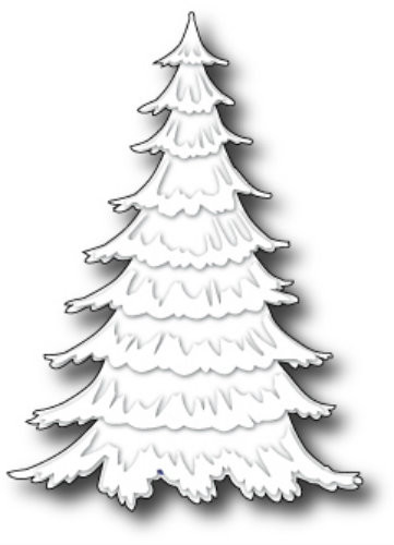 Memory Box Die - Frosted Christmas Tree Craft Die - The Rubber Buggy