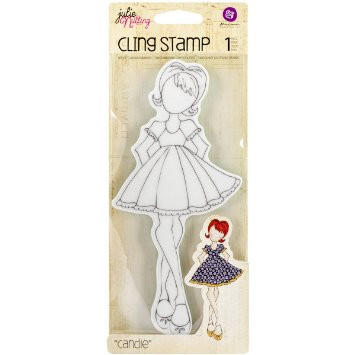 Prima Marketing Mixed Media Doll Cling Rubber Stamps-Riley