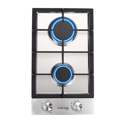 Gasland Chef GH30SF Built-in Gas Stove Top, Stainless Steel LPG, Natural Gas 12'' Cooktop, 2 Sealed Burners, ETL