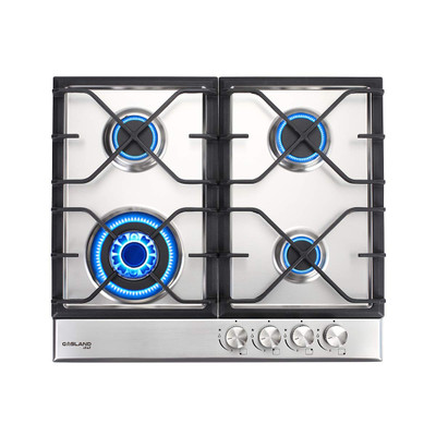 """Gasland Chef GH60SF Built-in Gas Stove Top, Stainless Steel LPG, Natural Gas 24"""" Cooktop, 4 Sealed Burners, ETL"""