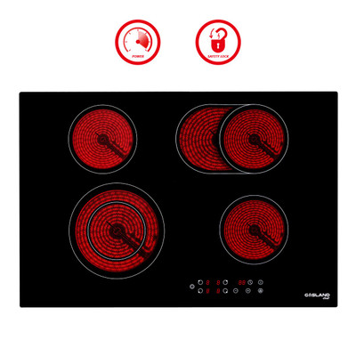 "Gasland Chef CH77BF Built-in Electric Stove, 30"" Vitro Ceramic Surface Radiant Electric Cooktop, 4 Burners"