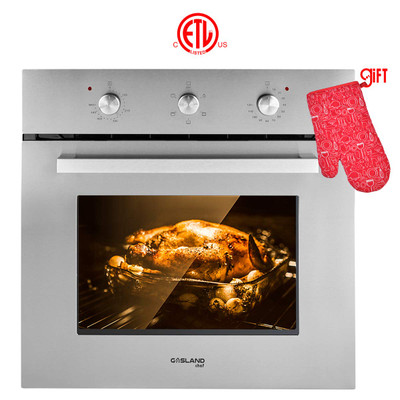 """Gasland chef ES606MS 24"""" Built-in Single Wall Oven, 6 Cooking Function, Stainless Steel Electric Wall Oven With Cooling Down Fan"""