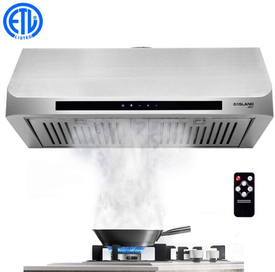 "Gasland Chef UC30SS 30"" Built-in Range Hood Stainless Steel Under Cabinet Range Hood 3 Speed 450 CFM, Touch Screen Remote Control"