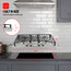 """Gasland Chef 30"""" Built-in Gas Cooktop GH1304SF 4 Italy Sabaf Burner Gas Stovetop, 30 inch Drop in Propane Stove, NG/LPG Convertible, Thermocouple Protection, Stainless Steel, 120V AC"""