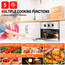 """Gasland Chef ES605MS 24"""" Built-in Single Wall Oven, 5 Cooking Function, Stainless Steel Electric Wall Oven With Cooling Down Fan"""