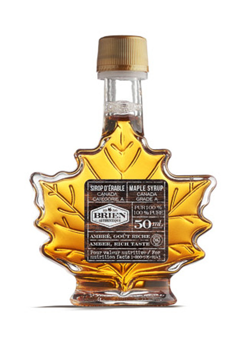 Maple Syrup, Small Maple Leaf Bottle, 48 x Bottles Case, 50ml