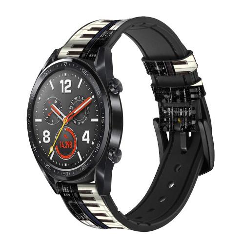 CA0002 Synthesizer Smart Watch Armband aus Silikon und Leder für Wristwatch Smartwatch