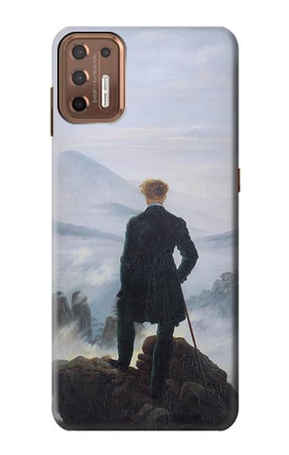 W3789 Wanderer above the Sea of Fog Hülle Schutzhülle Taschen und Leder Flip für Motorola Moto G9 Plus