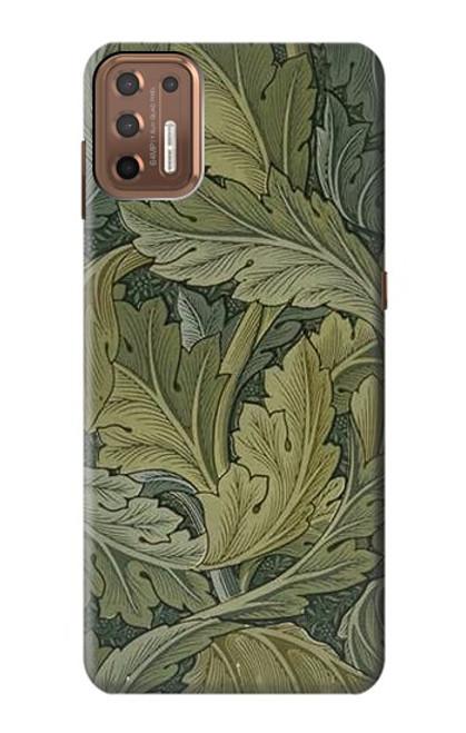 W3790 William Morris Acanthus Leaves Hülle Schutzhülle Taschen und Leder Flip für Motorola Moto G9 Plus