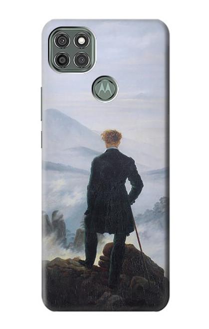 W3789 Wanderer above the Sea of Fog Hülle Schutzhülle Taschen und Leder Flip für Motorola Moto G9 Power