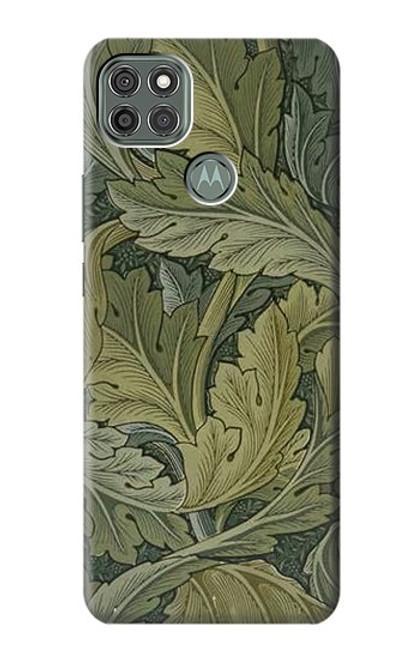W3790 William Morris Acanthus Leaves Hülle Schutzhülle Taschen und Leder Flip für Motorola Moto G9 Power