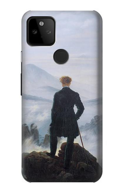 W3789 Wanderer above the Sea of Fog Hülle Schutzhülle Taschen und Leder Flip für Google Pixel 5A 5G