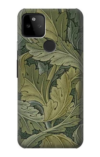 W3790 William Morris Acanthus Leaves Hülle Schutzhülle Taschen und Leder Flip für Google Pixel 5A 5G