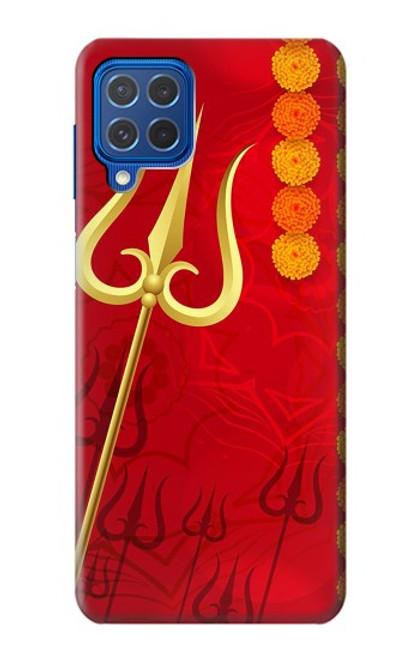 W3788 Shiv Trishul Hülle Schutzhülle Taschen und Leder Flip für Samsung Galaxy M62