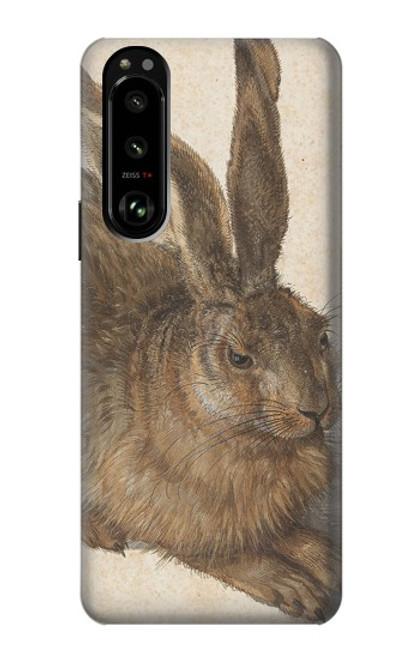 W3781 Albrecht Durer Young Hare Hülle Schutzhülle Taschen und Leder Flip für Sony Xperia 5 III