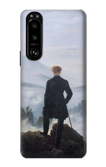 W3789 Wanderer above the Sea of Fog Hülle Schutzhülle Taschen und Leder Flip für Sony Xperia 5 III