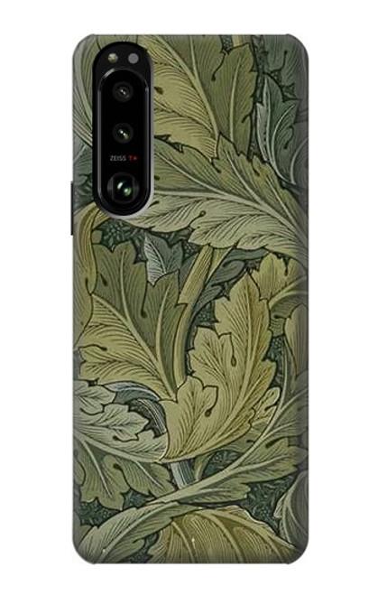 W3790 William Morris Acanthus Leaves Hülle Schutzhülle Taschen und Leder Flip für Sony Xperia 5 III