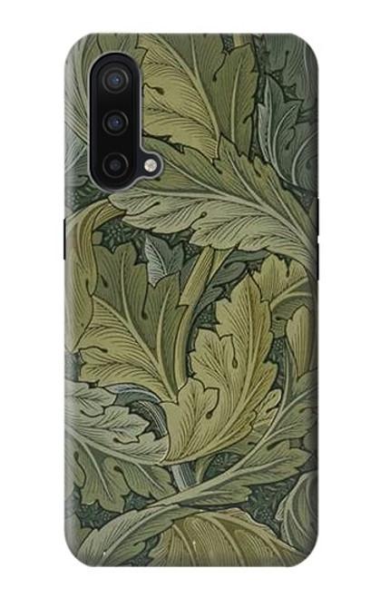 W3790 William Morris Acanthus Leaves Hülle Schutzhülle Taschen und Leder Flip für OnePlus Nord CE 5G