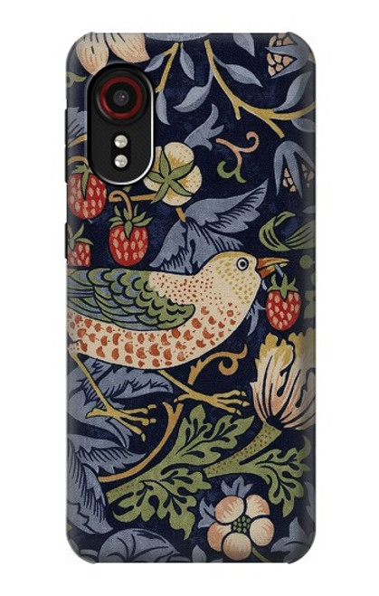 W3791 William Morris Strawberry Thief Fabric Hülle Schutzhülle Taschen und Leder Flip für Samsung Galaxy Xcover 5