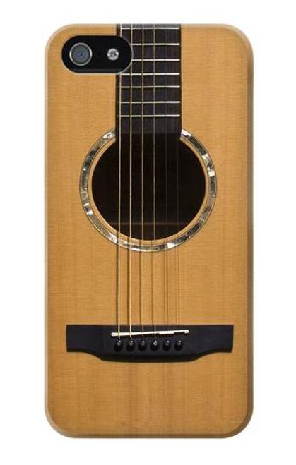 W0057 Acoustic Guitar Hülle Schutzhülle Taschen und Leder Flip für iPhone 5 5S SE