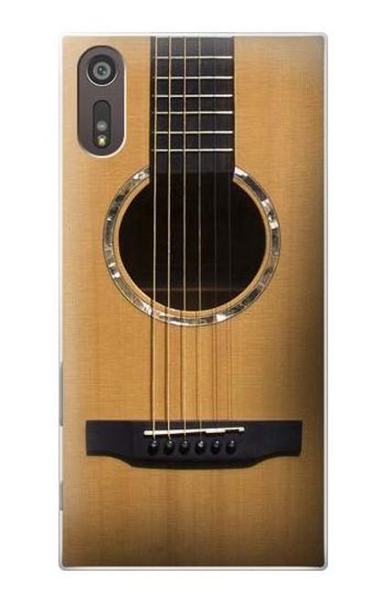 W0057 Acoustic Guitar Hülle Schutzhülle Taschen und Leder Flip für Sony Xperia XZ