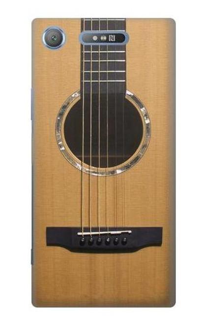 W0057 Acoustic Guitar Hülle Schutzhülle Taschen und Leder Flip für Sony Xperia XZ1