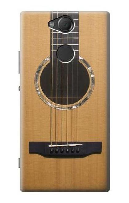 W0057 Acoustic Guitar Hülle Schutzhülle Taschen und Leder Flip für Sony Xperia XA2