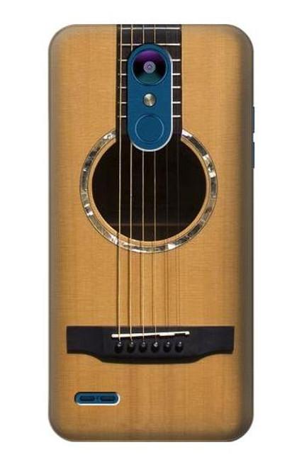 W0057 Acoustic Guitar Hülle Schutzhülle Taschen und Leder Flip für LG K8 (2018)