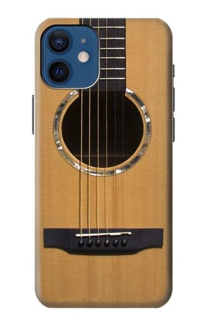 W0057 Acoustic Guitar Hülle Schutzhülle Taschen und Leder Flip für iPhone 12 mini