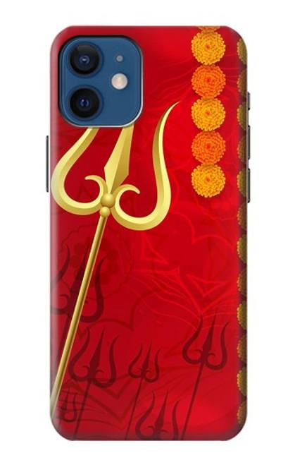 W3788 Shiv Trishul Hülle Schutzhülle Taschen und Leder Flip für iPhone 12 mini
