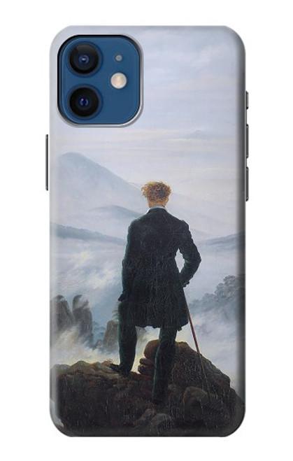 W3789 Wanderer above the Sea of Fog Hülle Schutzhülle Taschen und Leder Flip für iPhone 12 mini