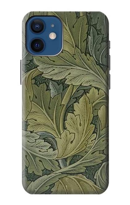 W3790 William Morris Acanthus Leaves Hülle Schutzhülle Taschen und Leder Flip für iPhone 12 mini