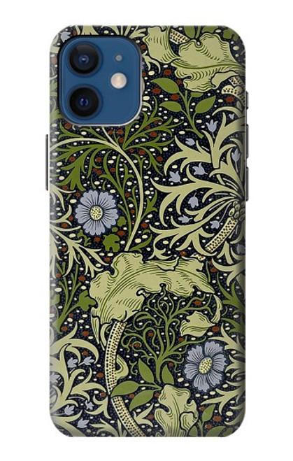 W3792 William Morris Hülle Schutzhülle Taschen und Leder Flip für iPhone 12 mini