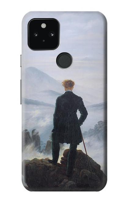 W3789 Wanderer above the Sea of Fog Hülle Schutzhülle Taschen und Leder Flip für Google Pixel 5