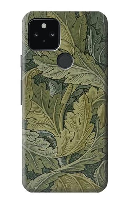 W3790 William Morris Acanthus Leaves Hülle Schutzhülle Taschen und Leder Flip für Google Pixel 5