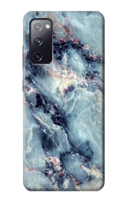 W2689 Blue Marble Texture Graphic Printed Hülle Schutzhülle Taschen und Leder Flip für Samsung Galaxy S20 FE