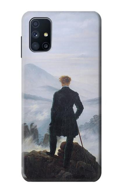 W3789 Wanderer above the Sea of Fog Hülle Schutzhülle Taschen und Leder Flip für Samsung Galaxy M51