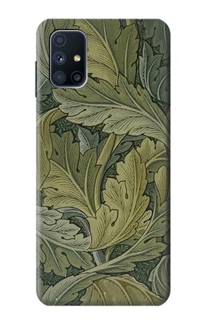 W3790 William Morris Acanthus Leaves Hülle Schutzhülle Taschen und Leder Flip für Samsung Galaxy M51