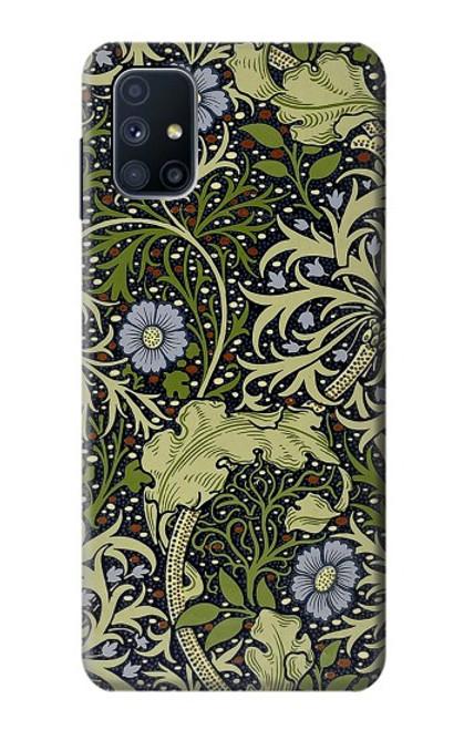W3792 William Morris Hülle Schutzhülle Taschen und Leder Flip für Samsung Galaxy M51