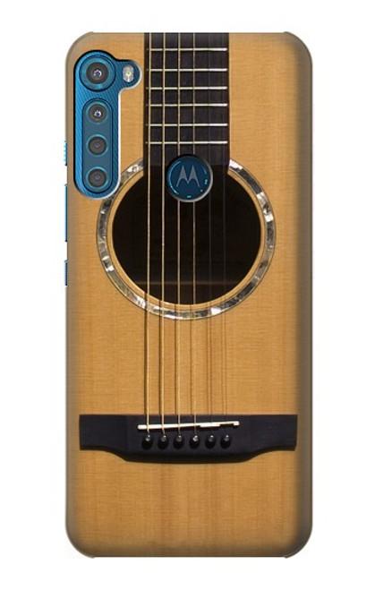 W0057 Acoustic Guitar Hülle Schutzhülle Taschen und Leder Flip für Motorola One Fusion+