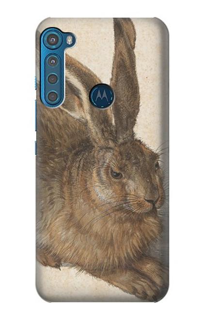 W3781 Albrecht Durer Young Hare Hülle Schutzhülle Taschen und Leder Flip für Motorola One Fusion+