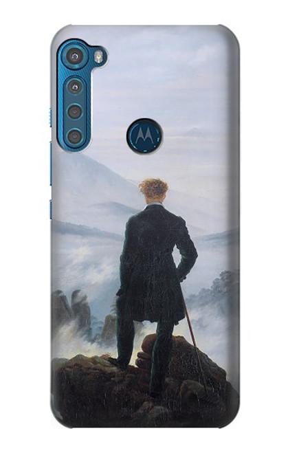 W3789 Wanderer above the Sea of Fog Hülle Schutzhülle Taschen und Leder Flip für Motorola One Fusion+