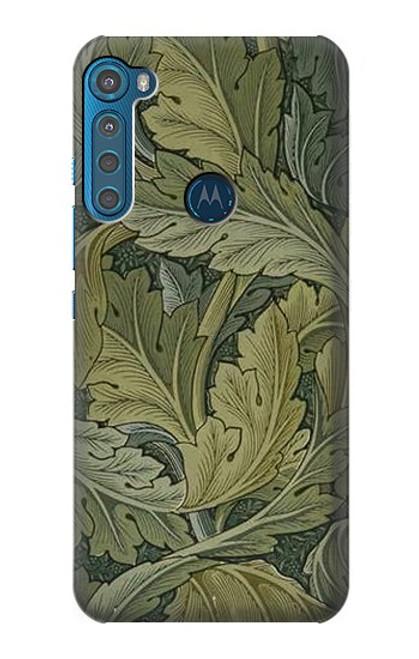 W3790 William Morris Acanthus Leaves Hülle Schutzhülle Taschen und Leder Flip für Motorola One Fusion+