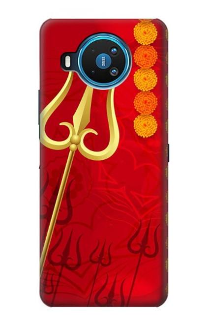 W3788 Shiv Trishul Hülle Schutzhülle Taschen und Leder Flip für Nokia 8.3 5G